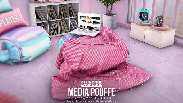 BackBone Media Pouffe