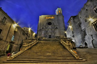 Girona Cathedral (Catedral), Costa Brava, Catalonia, Spain