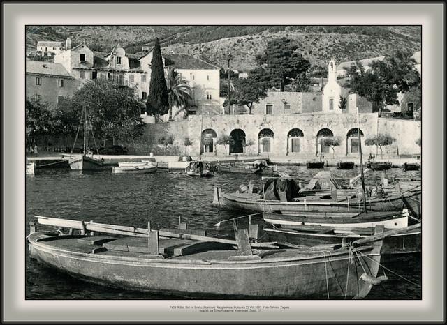 7429 R Bol, Bol na Braču. Postcard. Razglednica. Putovala 22.VIII.1963. Foto-Tehnika Zagreb, Ilica 36, za Živko Rukavina, Kostrena I, Šoići ,17