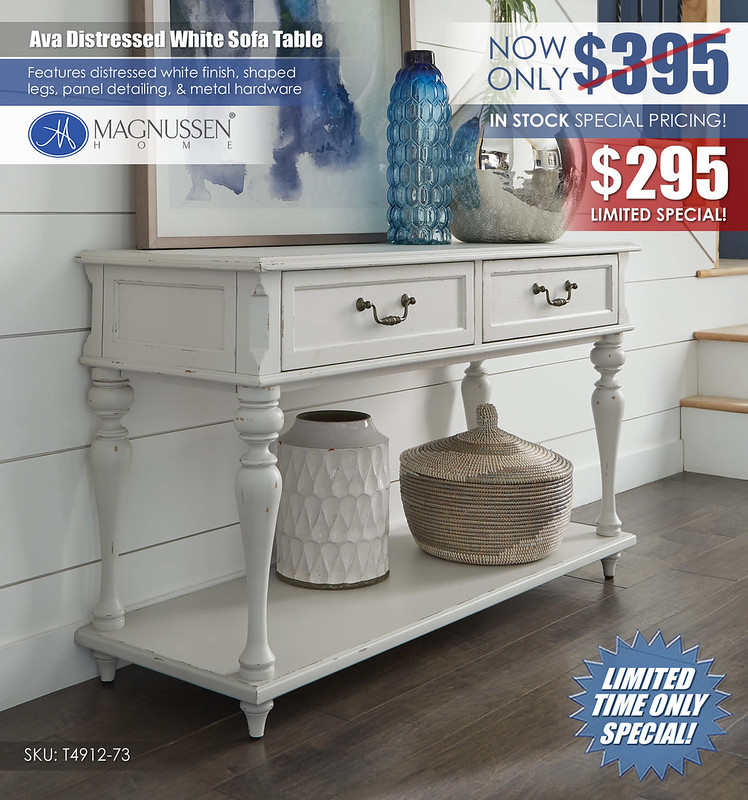 Ava Distressed White Sofa Table_T4912_73_SuperClearance