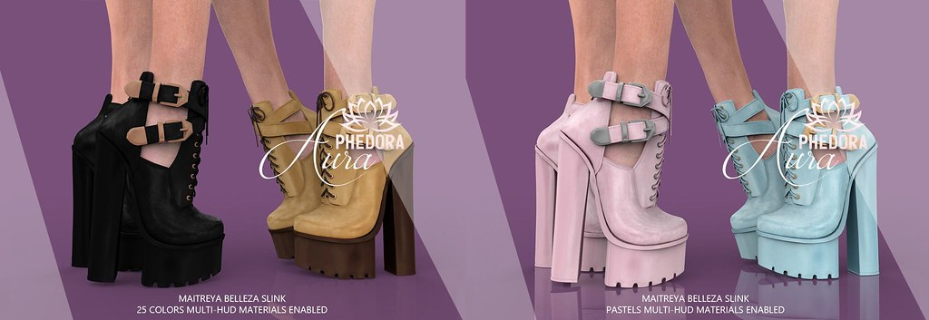 "Phedora for Fameshed ~ ""Aura"" Ankle Boots ♥"