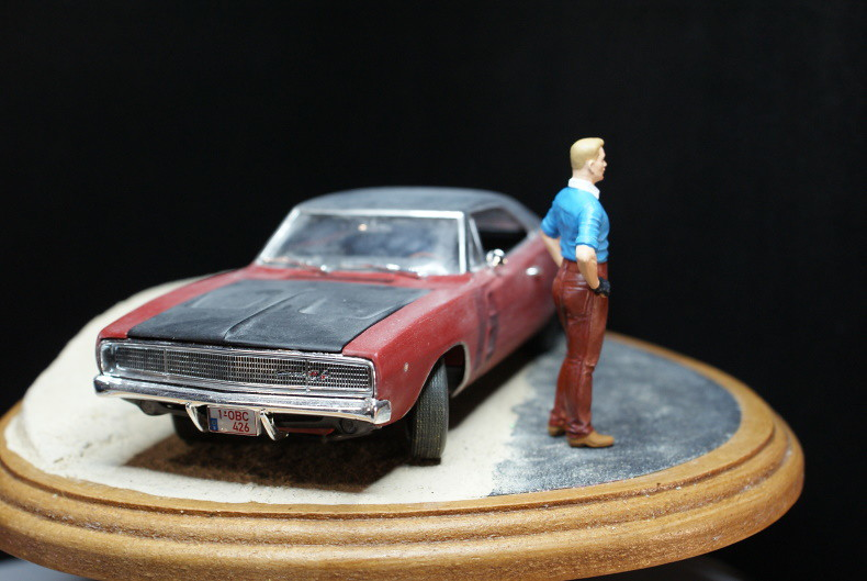 "Vignette ""Tintin aux USA"" [Dodge Charger R/T 68 Revell 1/25 et Stan Master Box 1/24] 49324163723_5eecdf10ff_c"