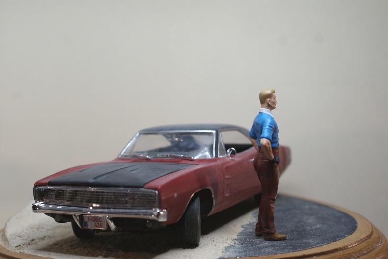 "Vignette ""Tintin aux USA"" [Dodge Charger R/T 68 Revell 1/25 et Stan Master Box 1/24] 49324163888_21210c356e_c"