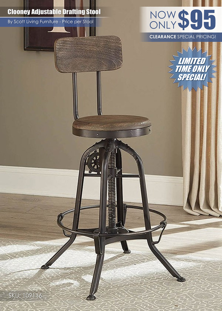 Clooney Adjustable Drafting Stool Scott Living_109116_ClearanceUpdate