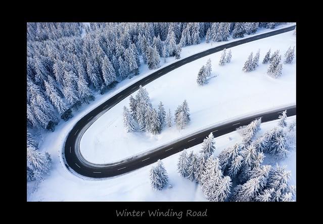 Winter Winding Road