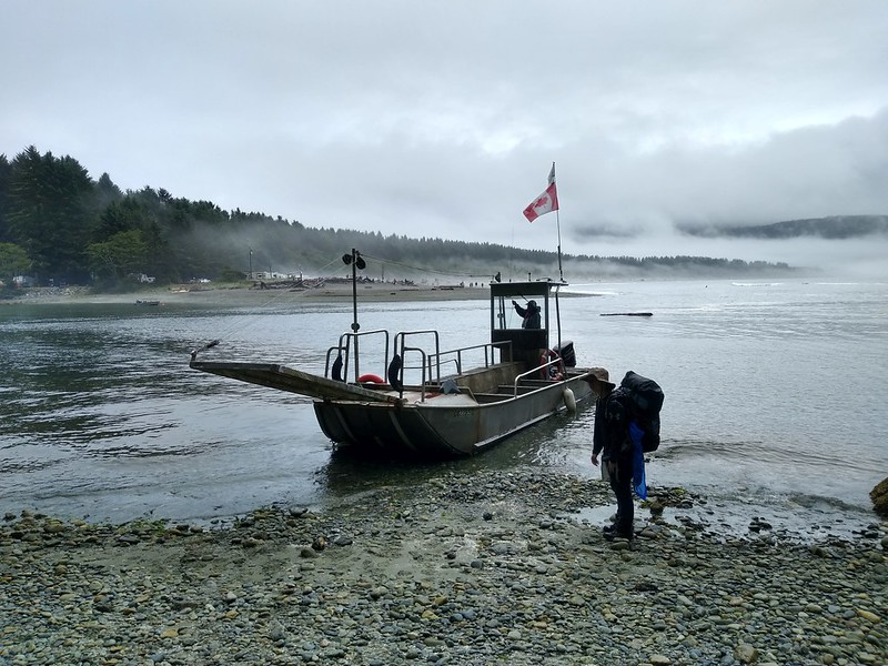 We arrived in time for the ferry boat that would take us across the Gordon River to Port Renfrew