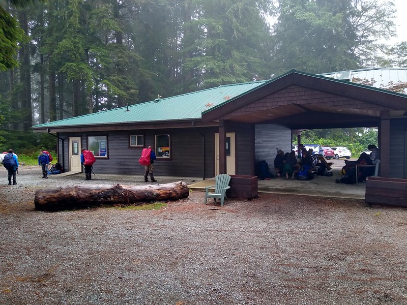 Pacific Rim National Park Ranger Station for the West Coast Trail at the Pacheedaht Campground in Port Renfrew