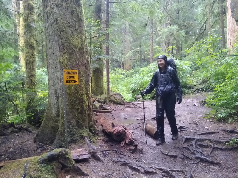 We reached the trail junction above Thrasher Cove and have 5 km to go until Port Renfrew on the West Coast Trail