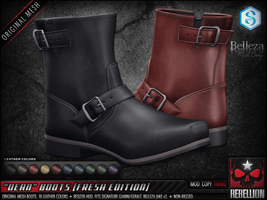 "= REBELLION = ""DEAN"" BOOTS (FRESH EDITION)"