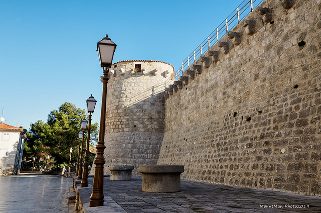 Frankopanski kaštel u utvrđenom gradu Krku
