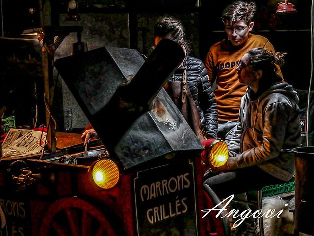 Bayona - mercado de navidad - Marrons grillés
