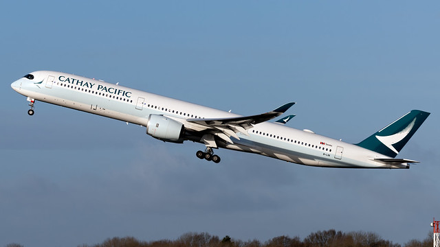 Cathay Pacific B-LXK A350-941 EGCC 03.01.2020