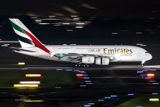 A6-EER Emirates Airbus A380-861