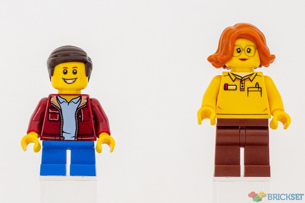 LEGO SHOP STORE CITY WORKER MINIFIGURE /& SET TILE MADE OF GENUINE LEGO PARTS
