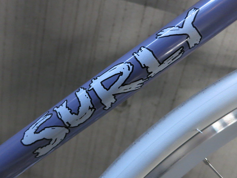 SURLY Steamroller Lilac Dura Ace Logo