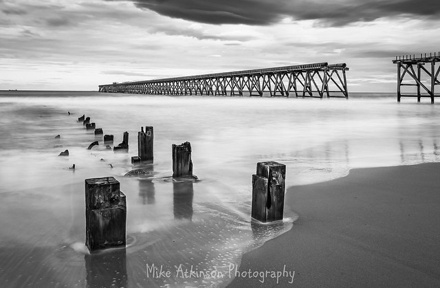 Steetley Pier September Long Exposure 1 (Mono)