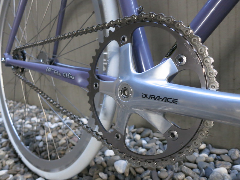 SURLY Steamroller Lilac Dura Ace Crank