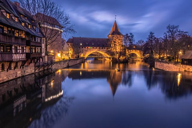 Nuremberg at blue hour