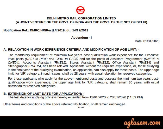 DMRC Recruitment 2020: Admit Card, Exam Date (Out), Pattern, Syllabus 1493 Vacancies Notification