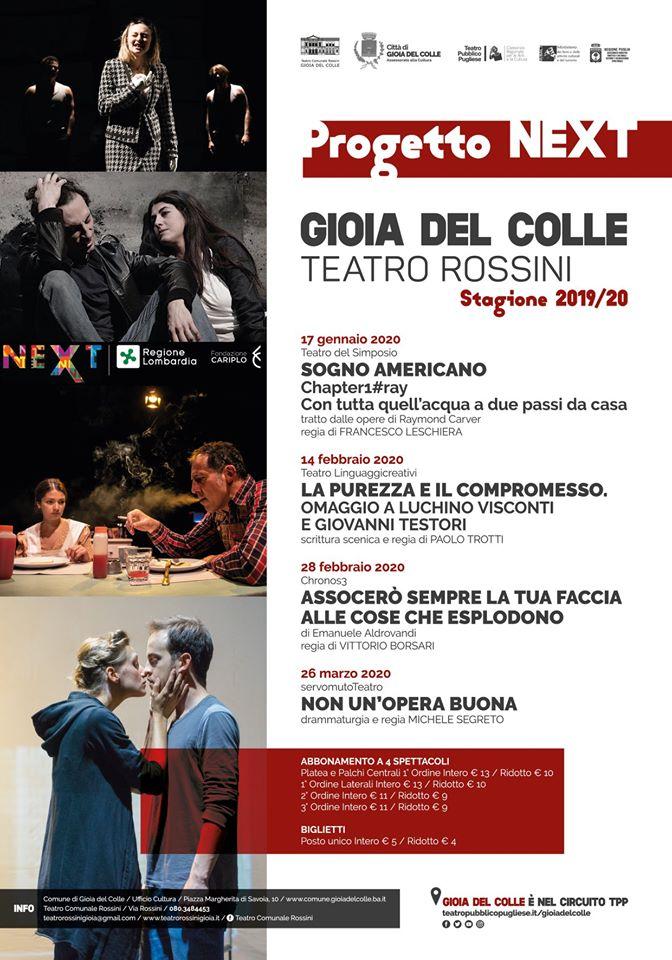 programma eventi next teatro rossini