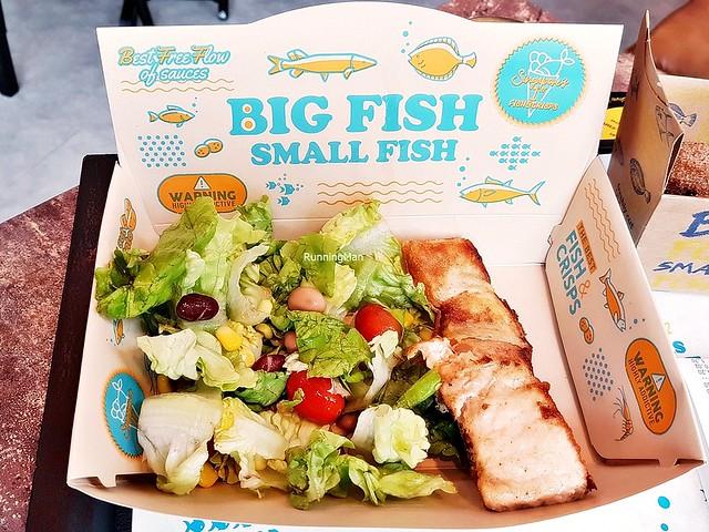 Fish On Grill Set Salmon