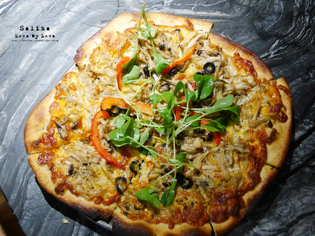 新北鶯歌老街好吃素食餐廳推薦燧人炊事吃素披薩 (1)
