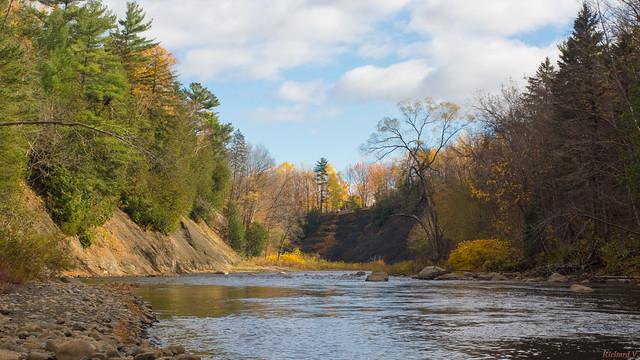 Automne, autumn, Rivière Saint-Charles,  Parc Chauveau - Québec, Canada - 4948