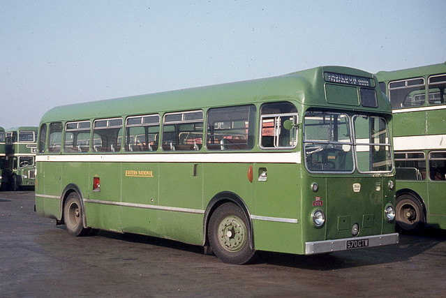 Eastern National Omnibus Company . 1224 570CTW . Basildon Garage Yard , Essex . October-1969 .