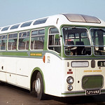 Eastern National Omnibus Company . 350 573UVX . Basildon Garage Yard , Essex . October-1969 .