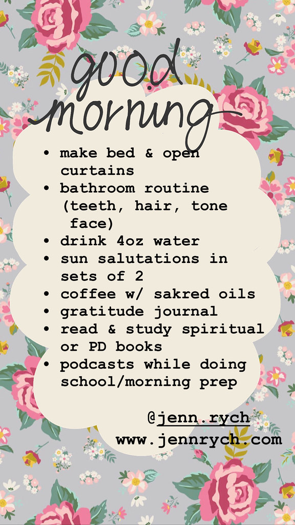 A simple morning routine that even rebels can follow! | www.jennrych.com