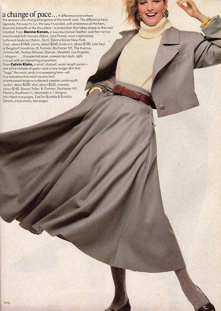 Vogue editorial shot by Bill King 1985
