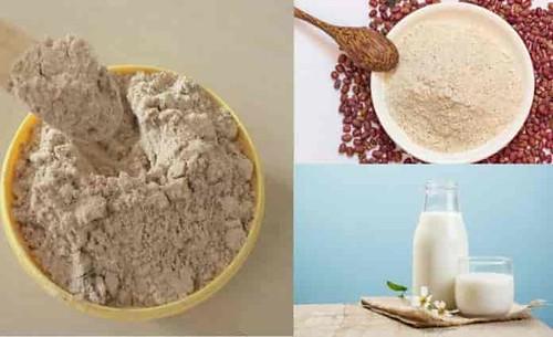 Mặt nạ cám gạo, bột đậu đỏ và sữa tươi
