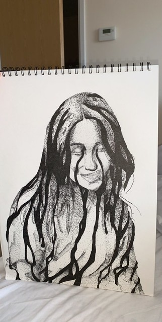 Dotted art, total time 22hours and 15 minutes. Billie Eilish