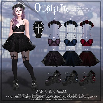 Oubliette- She's in Parties Gacha set