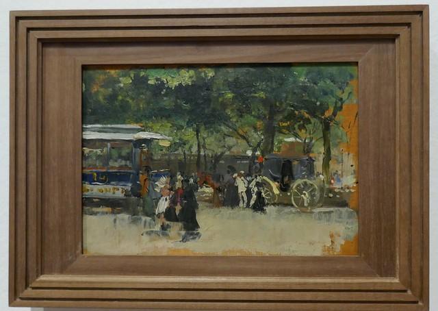 Paysage parisien, 1885, exposition
