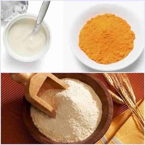 Mặt nạ cám gạo, sữa chua và tinh bột nghệ