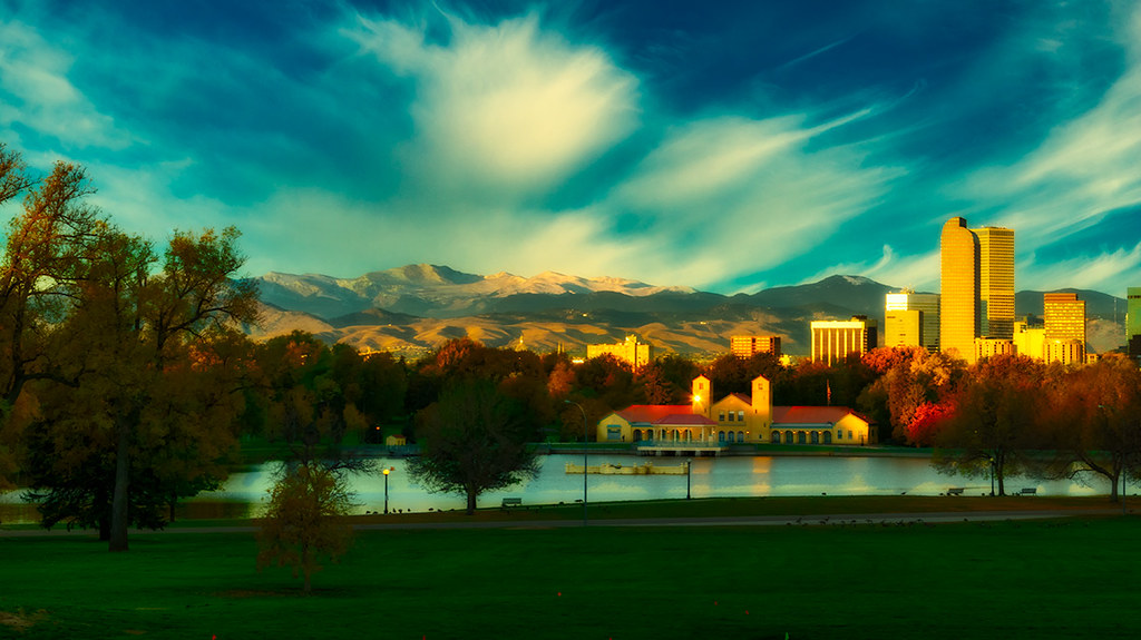 City Park Pavilion at Sunrise - Denver