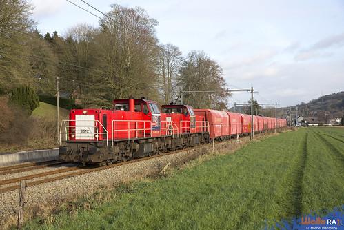 6512+6504 . DB Cargo . Z 60409 . Hamoir . 04.01.20.