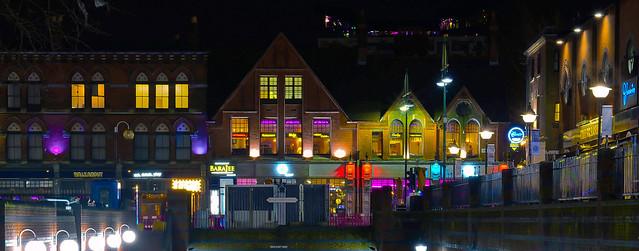 Birmingham at night.