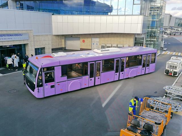 MAZ Airportbus in Minsk Airport 23.9.2019 2587