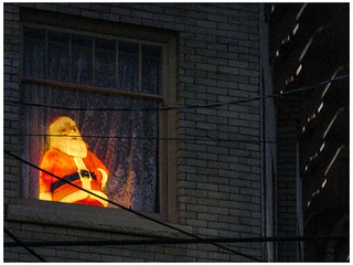 Window Santa- Night