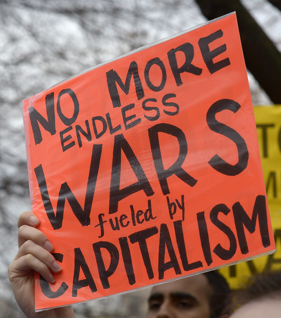 no more endless wars fueled by capitalism