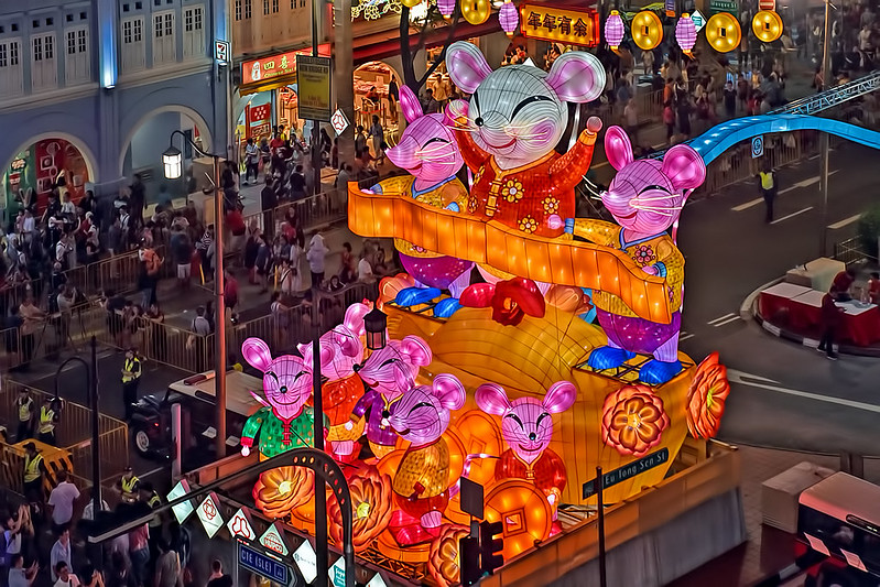Chinatown Chinese New Year Celebrations Street Light-up