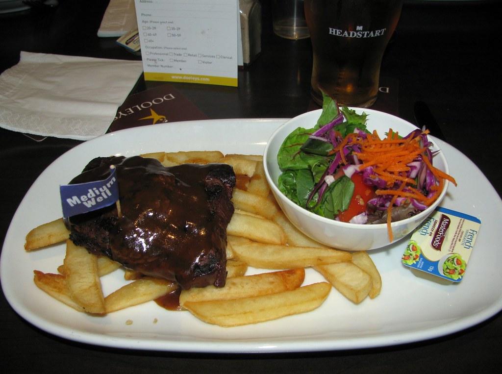Rump Steak, Dooleys, Lidcombe, Sydney, NSW.