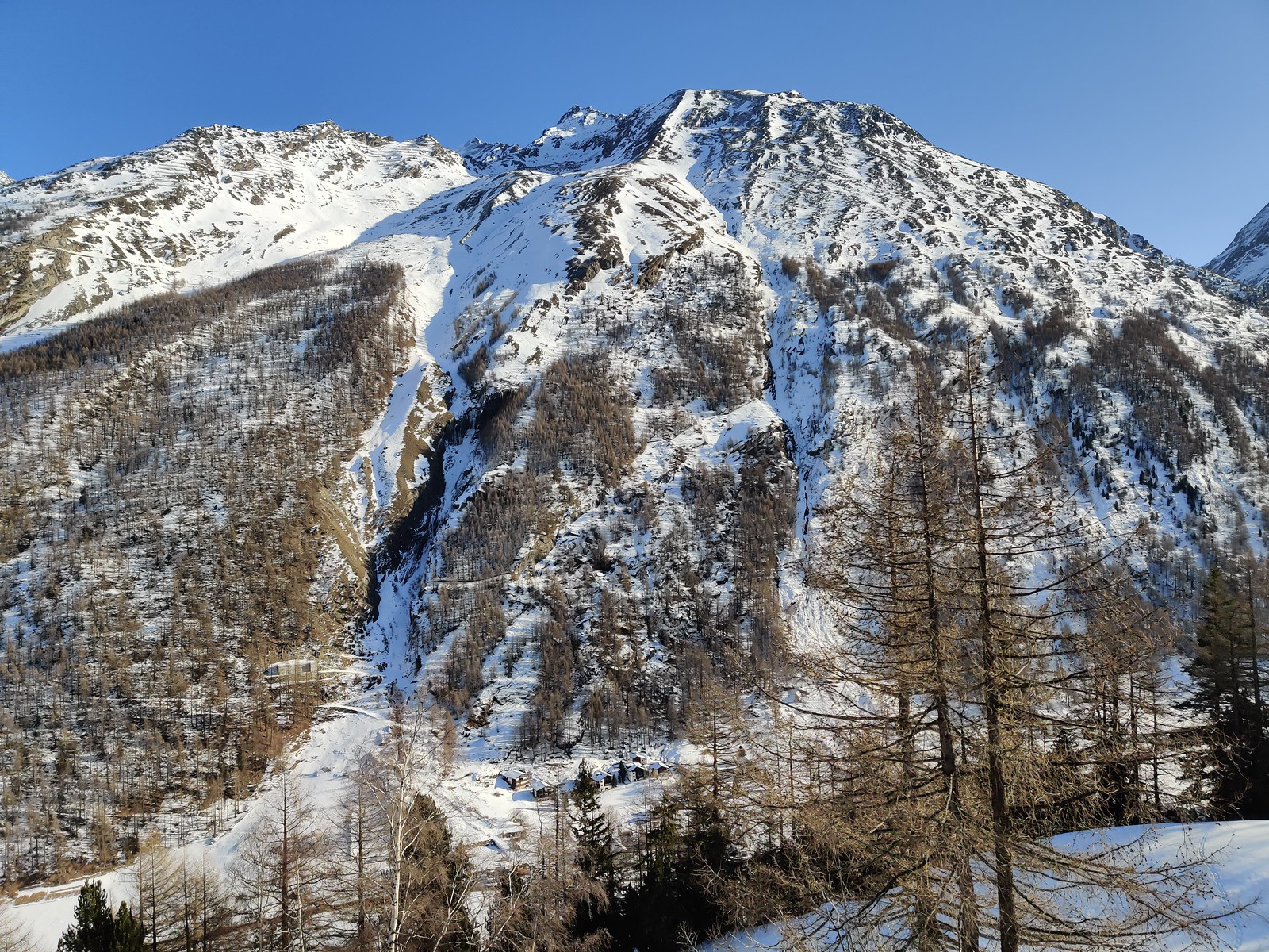 Mountain in the Saas valley