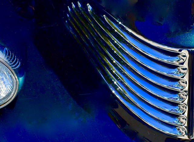 Abstract Patterns in Blue and Chrome