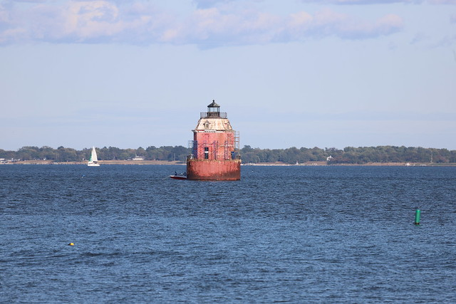 Sandy Point Shoal Light from Sandy Point State Park (Annapolis, Maryland) - October 10th, 2019