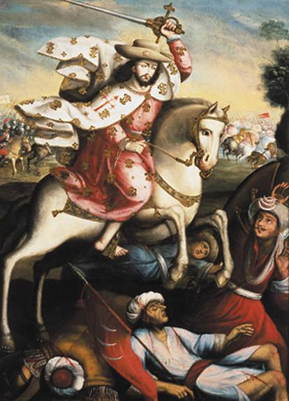 Santiago_Matamoros,_Peruvian_Colonial,_18th_century