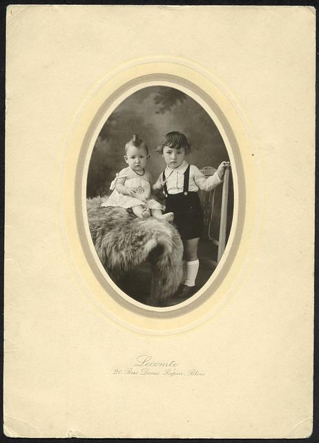 Archiv U847 Geschwister, Frankreich, Blois, 1910er