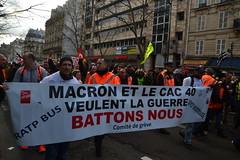 """Manif 4 janvier 2020 contre la """"réforme"""" des retraites"""